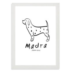 print for nursery - Madra