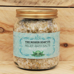 Eucalyptus and mint bath salts